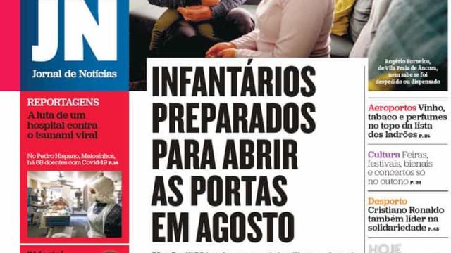 Hoje é notícia: Infantários abrem em agosto; 33 PSP com Covid-19 no Porto