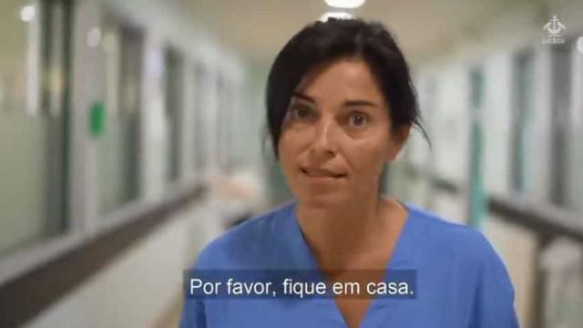 """""""Por favor, fique em casa"""". Enfermeira do Curry Cabral faz apelo"""
