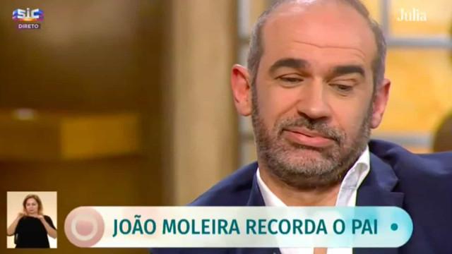"""João Moleira: """"Soube que o meu pai tinha falecido às 8h45, estava no ar"""""""