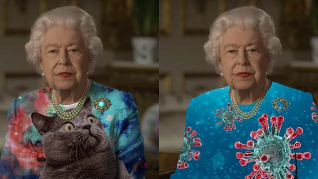 Hilariante! O vestido verde da rainha Isabel II que inspirou muitos memes