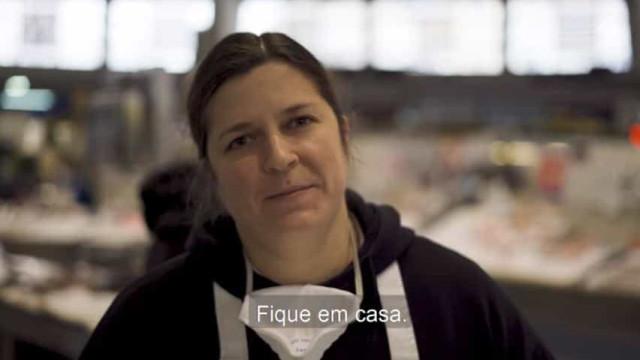 """Soraia trabalha no Mercado de Benfica e faz um apelo: """"Fique em casa"""""""