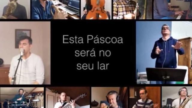 """Banda da Armada cria música original: """"Esta Páscoa será no seu lar"""""""