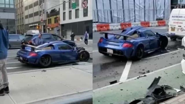 Aconteceu em Nova Iorque: Destrói Porsche de 800 mil euros e depois foge