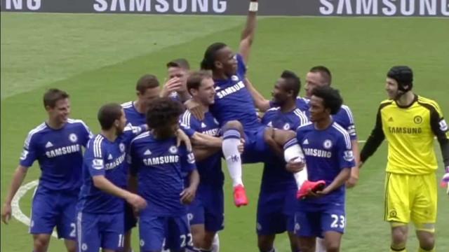Com Mourinho a ver, há cinco anos o Chelsea despedia-se de Drogba