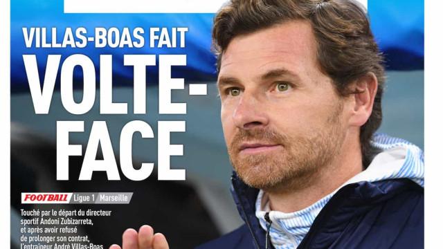 """Lá fora: Do """"volte-face"""" de Villas Boas aos receios por Ibrahimovic"""