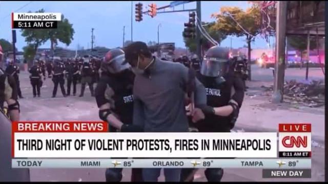 Equipa de reportagem da CNN detida durante protestos por George Floyd