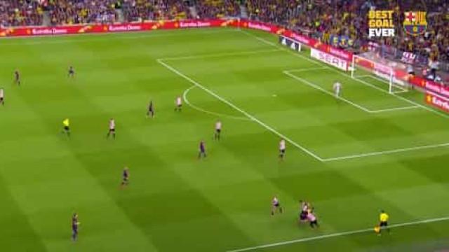 Há 5 anos, Camp Nou assistia a um dos melhores golos da carreira de Messi