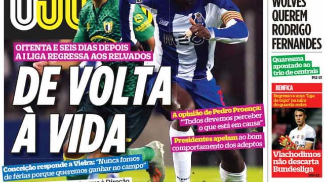 """Por cá: """"Chegou a hora"""" de voltar a bola em Portugal"""