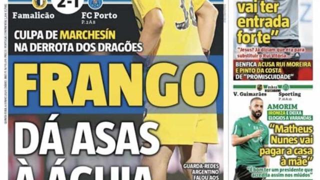 """Por cá: Um """"frango"""" que dá asas e a vez de Benfica e Sporting"""