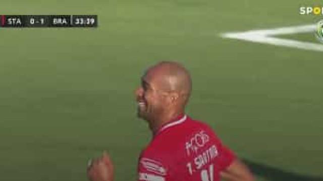 'Tiraço' de Thiago Santana relançou o Santa Clara na Cidade do Futebol