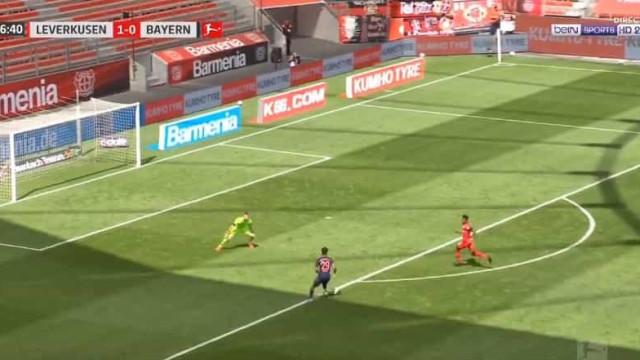 Kingsley Coman teve arte e engenho para empatar o Leverkusen-Bayern