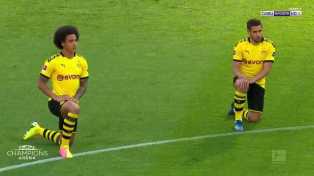 A arrepiante homenagem a George Floyd antes do Borussia Dortmund-Hertha