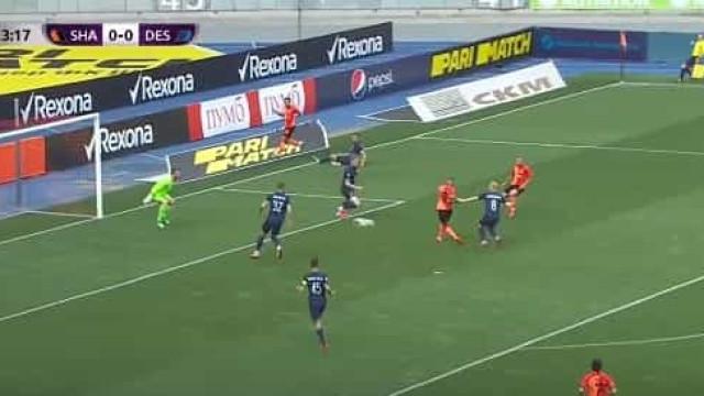 Ex-leão Fernando marcou este golo na vitória do Shakhtar de Luís Castro