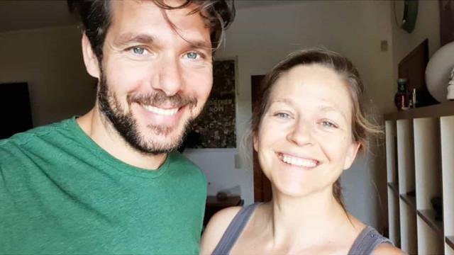 """Hallo-covid-ween"": Os disfarces Paula Lobo Antunes e Jorge Corrula"
