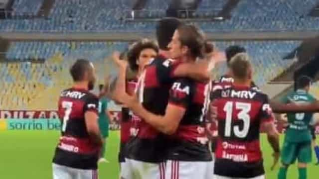 Os golos do Flamengo na vitória frente ao Boavista no Maracanã