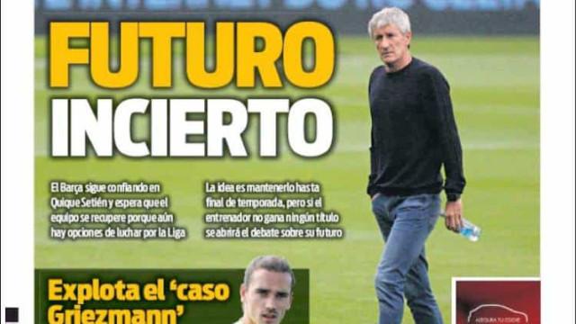 Lá fora: Setién na mira dos jogadores do Barcelona e Chelsea destroçado