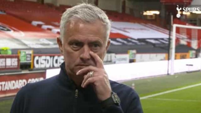 """Mourinho desiludido após a derrota do Tottenham: """"Resultado horrível"""""""