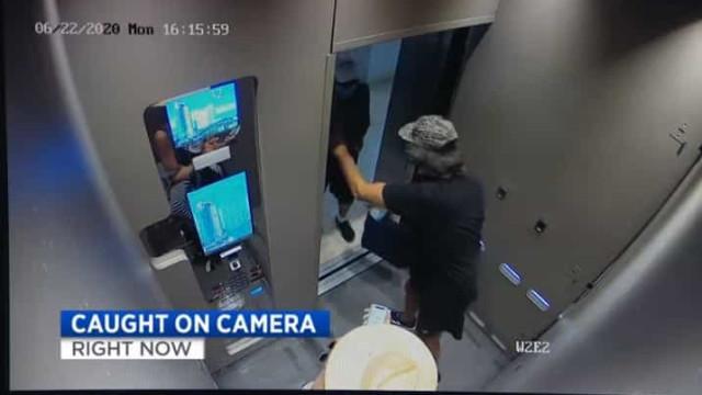 Com medo da Covid-19, empurra idoso para que não entre em elevador