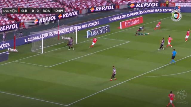 André Almeida adianta Benfica no marcador logo aos 13 minutos