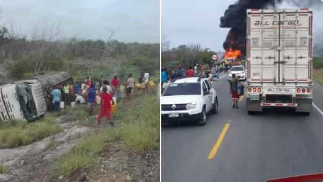 Incêndio em camião-cisterna provoca sete mortos e 40 feridos na Colômbia