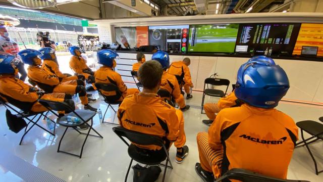 F1: Assim viveu a garagem da McLaren o pódio de Lando Norris