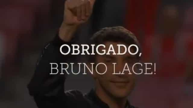 O video com que o Benfica se despediu de Bruno Lage