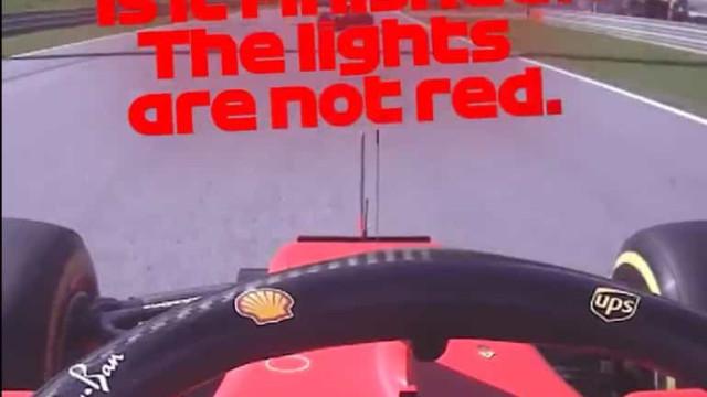 Insólito: Leclerc nem se apercebeu que a corrida tinha acabado