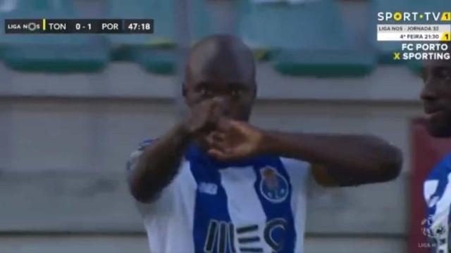 Danilo inaugura o marcador do Tondela-FC Porto