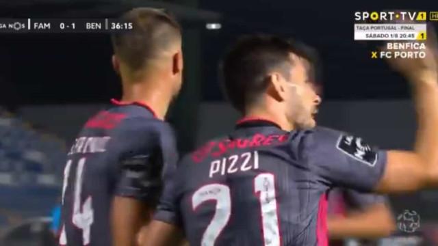 O golo de Pizzi que inaugurou o marcador no Famalicão-Benfica