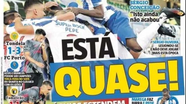 Por cá: Águias entendem a passadeira e deixam FC Porto à beira do título