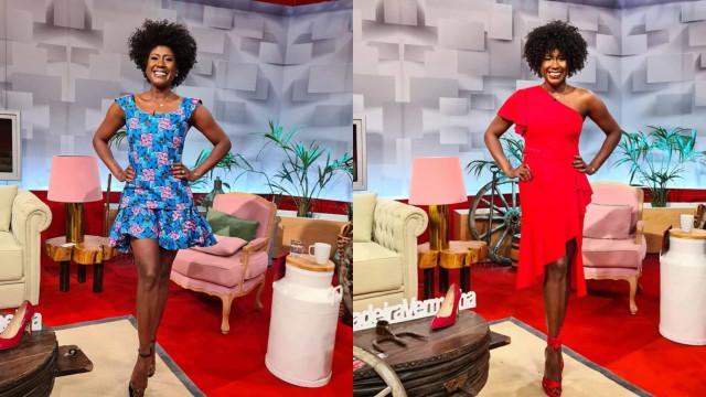 Look da Semana: Mariama Barbosa em vermelho fatal ou romântico floral?