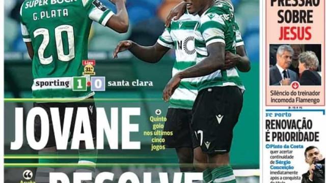Por cá: Jovane vale triunfo e Jesus no Benfica complica-se
