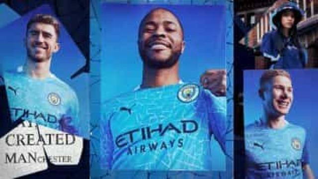 Manchester City apresentou o equipamento para a próxima temporada