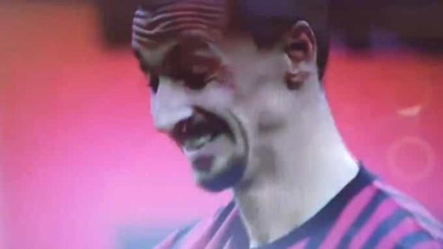 Defesa do Parma até caiu com a potência da 'bomba' de Ibrahimovic
