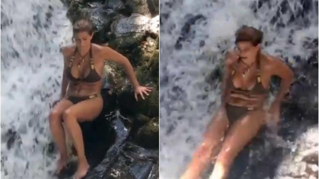 Vídeo. Aparatosa queda de Liliana Campos faz sucesso na Internet