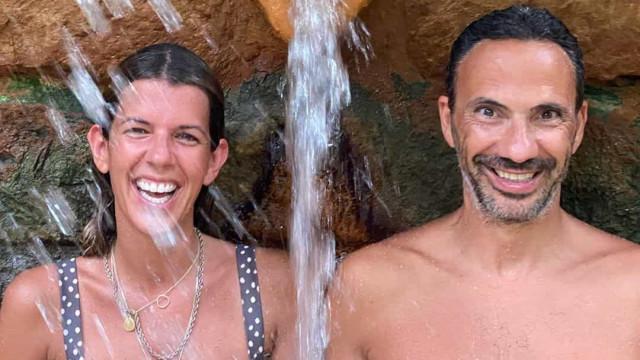 Pedro Ribeiro e Rita Rugeroni de férias nos Açores