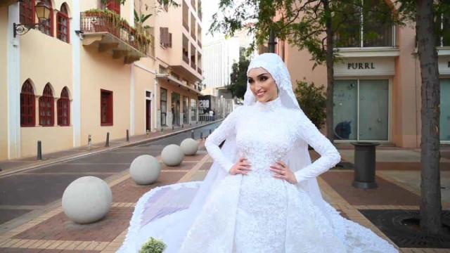 Explosão acaba com sessão fotográfica de noiva em Beirute