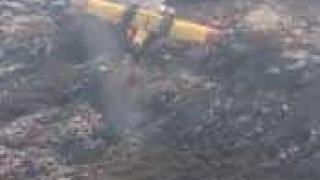 Imagens mostram canadair português em chamas no Gerês