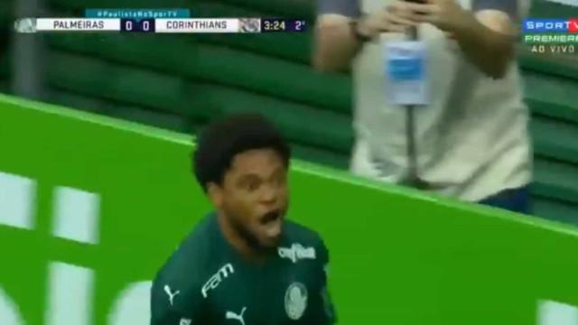 Luiz Adriano subiu ao 'segundo andar' para adiantar o Palmeiras