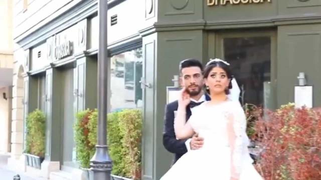 Houve outro casal de noivos a ser surpreendido por explosão em Beirute