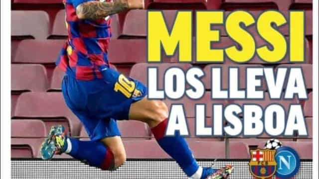 "Lá fora: ""Messi conduz a Lisboa"" e Pirlo comanda Cristiano Ronaldo"
