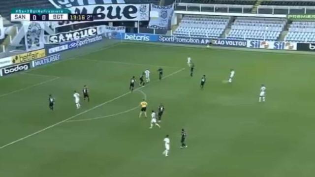 Golaço de Marinho não impediu empate do Santos com o RB Bragantino