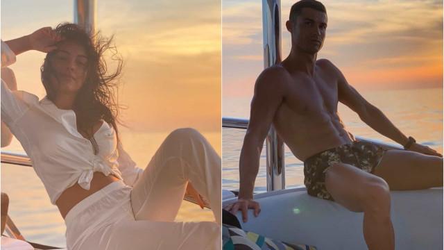Ronaldo e Georgina: A sessão de fotos ao pôr do sol na Riviera Francesa