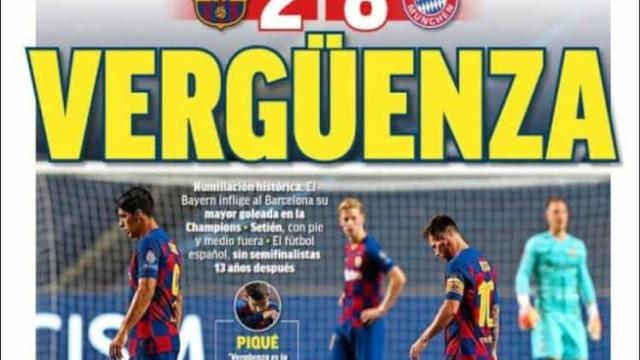 """Lá fora: """"Humilhação"""", """"vergonha""""... Só dá Barcelona"""
