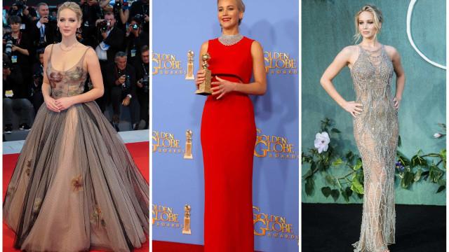 Os 30 vestidos mais glamorosos de Jennifer Lawrence