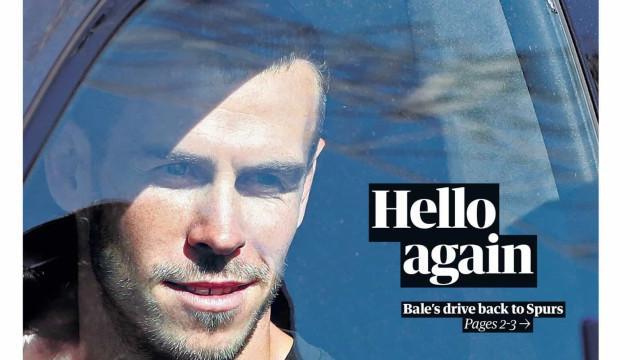 """Lá fora: Bale vira """"herói"""" e Serie A está de volta"""