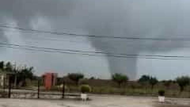 Eis as imagens do tornado em Palmela. Supercélulas na origem do fenómeno