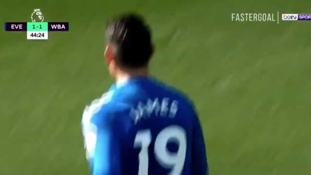 James Rodríguez já marca pelo Everton (e em grande estilo)