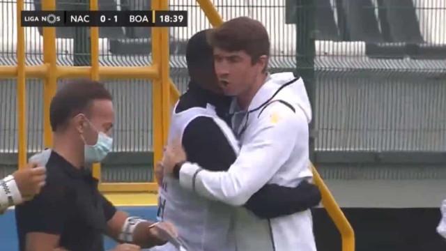 Boavista estreou-se a marcar na I Liga com este golo de Gustavo Sauer