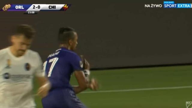 Nani, o suspeito do costume, marcou este golo na vitória do Orlando City